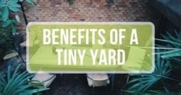 benefits of a tiny yard