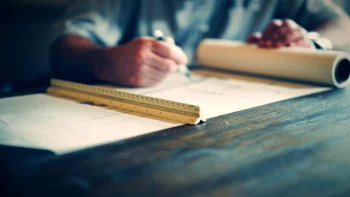 architect drawing plan