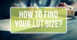 how to find your lot size