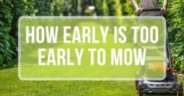 how early is too early to mow