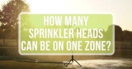 how many sprinkler heads per zone